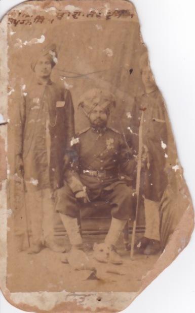 Subedar Sawan Singh (middle), Subedar Indar Singh (Right)